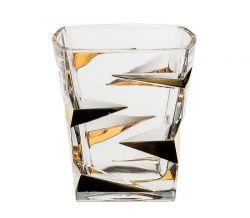 Sklenička whisky zl. Zig zag gold 300 ml 6 ks