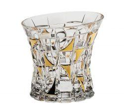 Sklenička whisky zl. Patriot gold 200 ml 6 ks