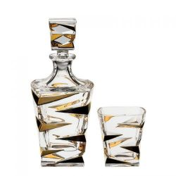 Set whisky 1+6 zl. Zig zag gold   1 ks